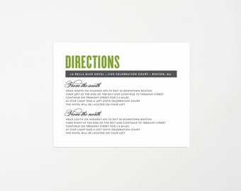 Old Fashioned Direction Enclosure Card