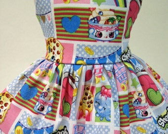 Shopkins Patch Party Sleeveless Dress for your American Girl Doll D