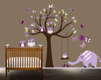 Nursery Tree Wall Girls Decal Stickers