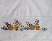 White Towels  White Stone Washed Cotton Tea Towel hand face towel a towel Towel embroidery Towel handicraft Cotton hand towels Face towels
