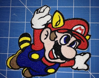 Flying Mario iron on patch
