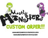 CUSTOM order for R Hall; Cuddle Monster Pillow, Neon Camo bedtime buddy, zipper mouth pajama eater