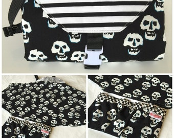 Misfits Skulls Changing Pad Diaper Clutch *Item varies from photo*