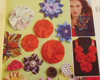 Flower Pattern, Fabric Flower Pattern, Accessories Pattern, for Clothes Hats Millinery, McCall's M6047, Uncut, Crafts