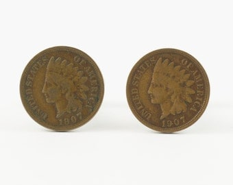 Indian Penny Cufflinks