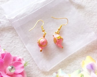 Pink Lamp Earrings
