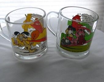 garfield clear mugs