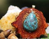 Shattuckite Third Eye Pinecone Pendant