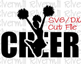 SVG DXF Cheer Word Cut File