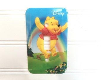 Winnie the Pooh Lightswitch Cover - Lightswitch Plate Cover - Vintage Switchplate Cover - Pooh Decor