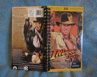 Indiana Jones and the Raiders of the Lost Ark VHS box notebook