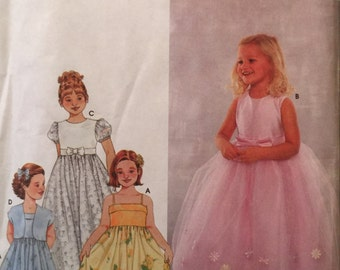 Simplicity 9147 Child's Dress and Jacket Pattern, UNCUT, Size 3-4-5, Party Dress, Wedding, Flower Girl, Play Dress, 2000
