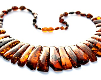Baltic Amber Necklace, Red Necklace,