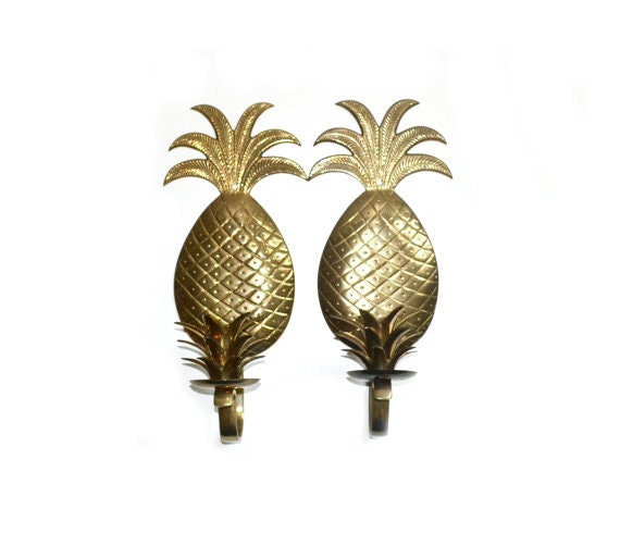 Pineapple Wall Sconces Pineapple Candle holders Brass