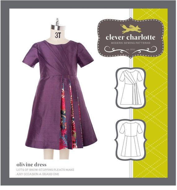 Clever Charlotte Olivine Dress - Original Sewing Pattern for Girls