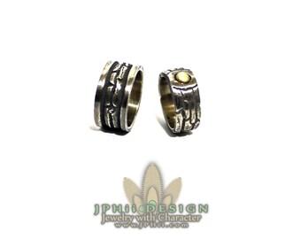 Custom Silver Log Ring