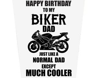 Happy Birthday To My Biker Dad Birthday Card