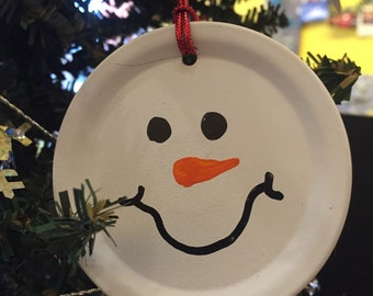 Snowman Lid Ornament