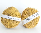 Hemp Yarn in Mustard