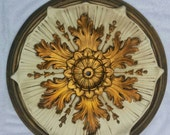 Vintage Home Ceiling Light Medallion Table Top Wall Art Hollywood Regency Mid Century