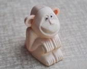 "Vintage Soviet Russian celluloid pencil sharpener.""Monkey""."