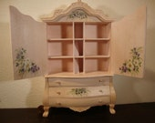 Miniature dolls house cabinet  hand painted 1.12 scale
