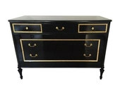 Black Gilt Neoclassic Style chest