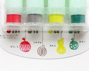 soramame versacraft ink pad set. rubber stamps ink pads. multipurpose ink pads - paper fabric wood. acid free / non toxic. small. mizufusen