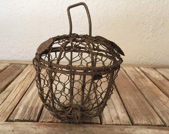 Vintage Wire Box Chicken Wire