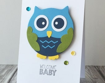 Welcome Baby Owl Card