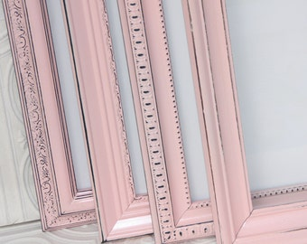 Pink Frame Your Choice Size One Shabby Chic Vintage Hand Painted Distressed Frame Made to Order