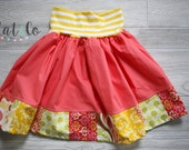 Size girls 8 skirt with knit waistband.   Clearance, free shipping.