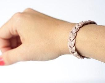 Braided Leather Bracelet / Early Sunrise