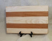 Cherry and Maple Hardwood Cutting Board or Carving Board