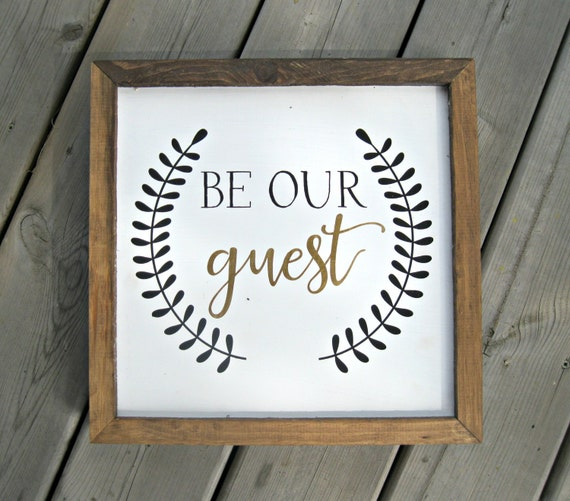 Guest Room Sign Decor: Be Our Guest Rustic Farmhouse Style Decor Guest Room Disney