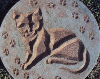 Cat Stone Wall Hanging, Inside, Outside
