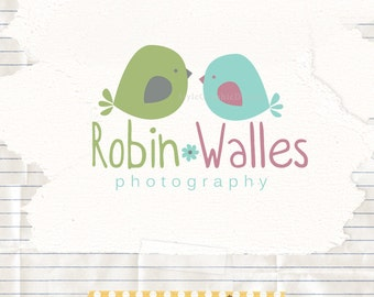 Sweet birds logo pre designed - Business Logo Design -  pre made logos - Kids Logo - Boutique branding - Photographer logo