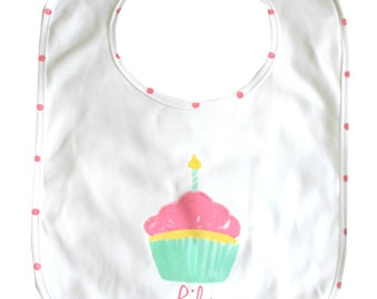 Baby First Birthday Bib Personalized