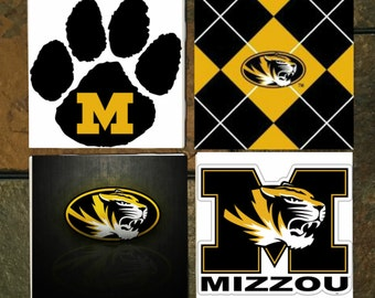 Mizzou Tigers Coasters Set