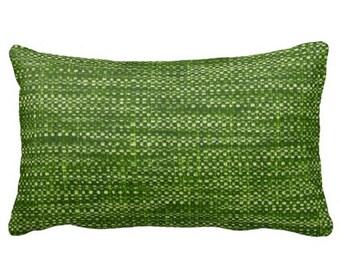 Patio Decor, Outdoor Pillows, Green Pillow, Green Outdoor Pillow, 12x18  Pillow,