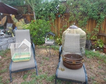 Bird cages lot of three