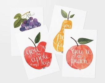 Sweet Talk postcards - set of 4
