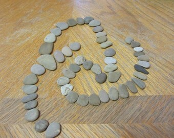 Flat Beach Stones in Shades of Sand Assorted Size Lot Lake Michigan Mosaic Stone Craft Supplies