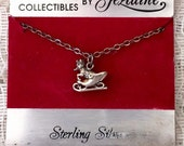 Sterling Silver Santa Sleigh Charm with Chain by Jezlaine