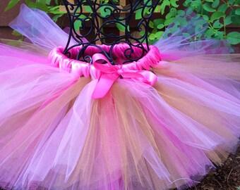 Girls  pink shocking pink and shimmering  gold barbie nutcracker tutu, for birthdays, Halloween ,weddings,flower girls,holidays,photoprop