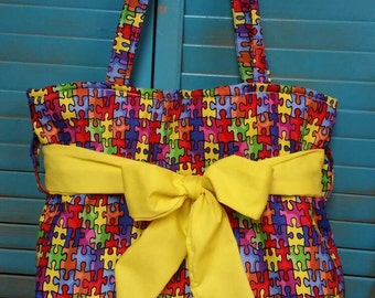 Autism Awareness  Handmade Bag