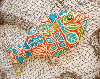 Tropical Pillow - Coastal Decor - Orange Pillow - Key West Decor - Tiki