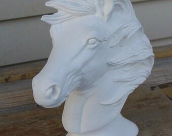 Ceramic Bisque Horse Bust
