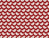 Tiny Birds on Red from Makower UK's Windy Day Collection