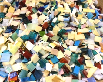 150 MOSAIC MIX #3 GRAB BaG Stained Glass Mosaic Tiles Mix Size & Color
